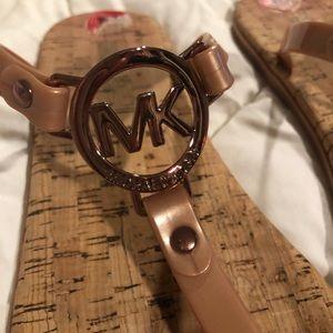 Michael Kors Rose Gold Sandals